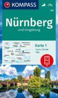 KP-163  Nürnberg und Umgebung   Kompass wandelkaart 1:50.000 9783991210665  Kompass Wandelkaarten Kompass Duitsland  Wandelkaarten Franken, Nürnberg, Altmühltal