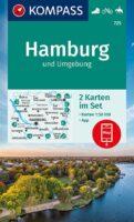 wandelkaart KP-725  Hamburg e.o. 1:50.000 | Kompass 9783991210849  Kompass Wandelkaarten Kompass Duitsland  Wandelkaarten Hamburg