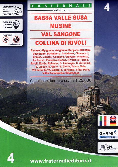 FRA-04 Bassa Valle Susa, Musinè   wandelkaart 1:25.000 9788897465331  Fraternali Editore   Wandelkaarten Turijn, Piemonte