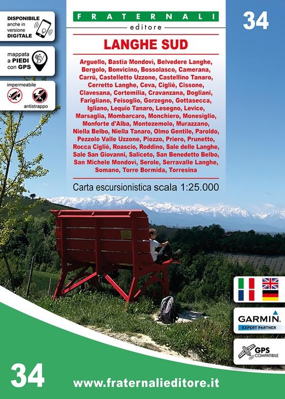 FRA-34 Langhe Sud | wandelkaart 1:25.000 9788897465508  Fraternali Editore   Wandelkaarten Turijn, Piemonte