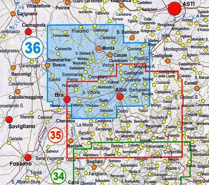 FRA-36  Roero   wandelkaart 1:25.000 9788897465522  Fraternali Editore   Wandelkaarten Turijn, Piemonte