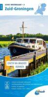 WTK-03  Zuid-Groningen Waterkaart 9789018045982  ANWB ANWB Waterkaarten  Watersportboeken Groningen