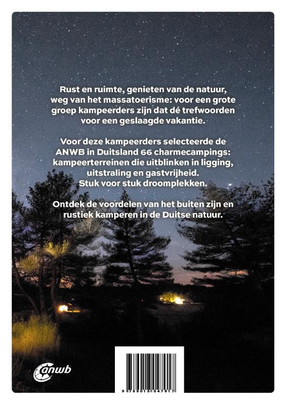Duitsland charmecampings 9789018047917  ANWB ANWB Campinggidsen  Campinggidsen Duitsland