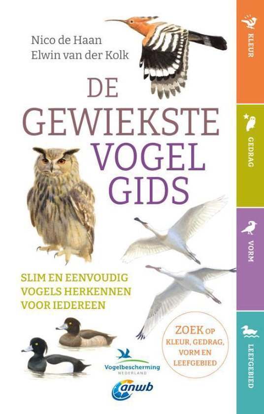 De gewiekste vogelgids | Nico de Haan 9789021579146 Nico de Haan Kosmos   Natuurgidsen, Vogelboeken Benelux
