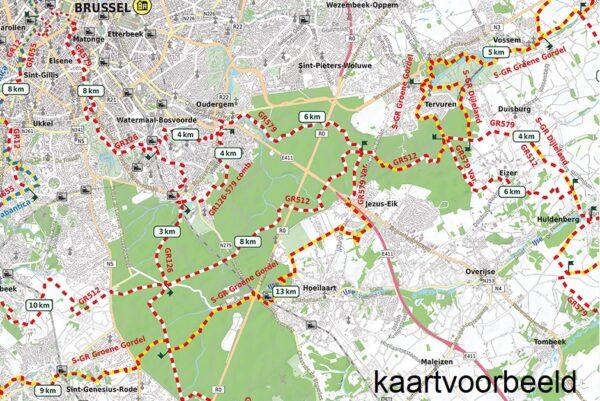 AVGR-2 Oost-Vlaanderen en Henegouwen | wandelkaart 1:85.000 9789082844351  Alta Via GR-Wandelkaarten België  Meerdaagse wandelroutes, Wandelkaarten Vlaanderen