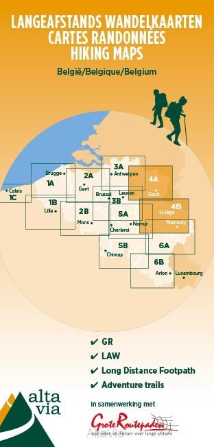 AVGR-4 Limburg, Hoge Venen en Ardennen | wandelkaart 1:85.000 9789082844375  Alta Via GR-Wandelkaarten België  Meerdaagse wandelroutes, Wandelkaarten Vlaanderen, Wallonië (Ardennen)
