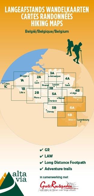 AVGR-6  Provincie Luxemburg, Gaume en Ardennen | wandelkaart 1:85.000 9789082844399  Alta Via GR-Wandelkaarten België  Meerdaagse wandelroutes, Wandelkaarten Wallonië (Ardennen)