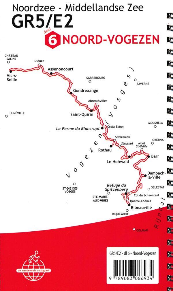 GR-5/E2 traject 4: Noord-Vogezen  wandelgids GR5 9789083086934  De Wandelende Cartograaf   Lopen naar Rome, Meerdaagse wandelroutes, Wandelgidsen Vogezen