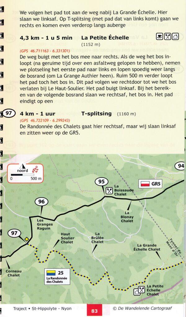 GR-5/E2 traject 6: Jura (St-Hippolyte - Nyon)  wandelgids GR5 9789083086958  De Wandelende Cartograaf   Lopen naar Rome, Meerdaagse wandelroutes, Wandelgidsen Franse Jura