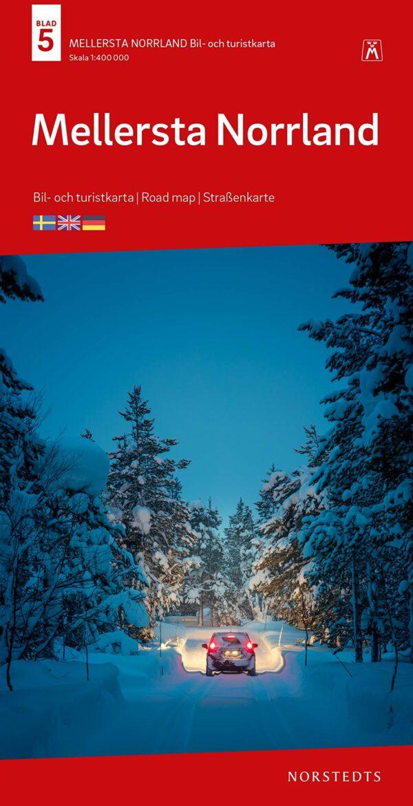 SE-5  Mellersta Norrland 1:400.000 9789113106014  Kartförlaget - Lantmäteriet Bil- och Turistkarta  Landkaarten en wegenkaarten Zweden boven Uppsala