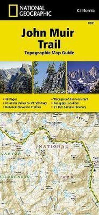 John Muir Trail | wandelkaarten 1:63.360 9781566956895  Tom Harrisons Maps   Wandelkaarten California, Nevada