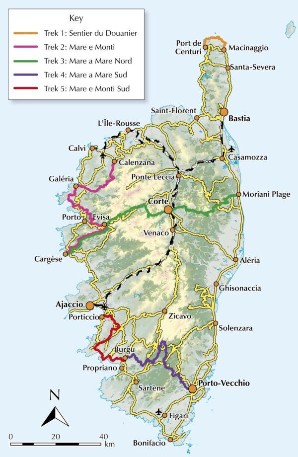 Short treks on Corsica | wandelgids 9781786310590  Cicerone Press   Meerdaagse wandelroutes, Wandelgidsen Corsica