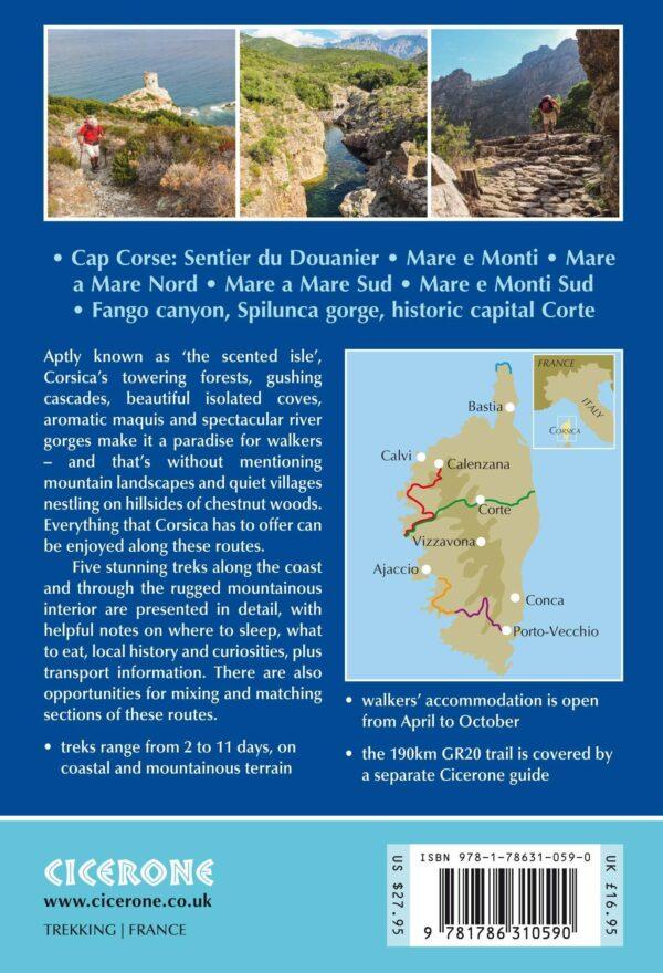 Short treks on Corsica   wandelgids 9781786310590  Cicerone Press   Meerdaagse wandelroutes, Wandelgidsen Corsica