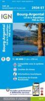 2934ET  Bourg-Argental, Parc du Pilat  | wandelkaart 1:25.000 9782758543213  IGN IGN 25 Omgeving Lyon  Wandelkaarten Lyon en omgeving