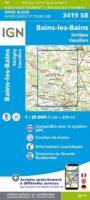 SB-3419 SB Bains-les-Bains, Xertigny, Vauvillers 9782758550150  IGN ING 25 Vogezen  Wandelkaarten Vogezen