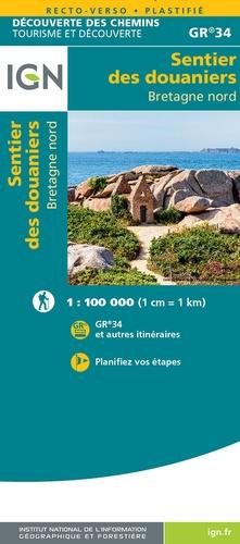 Le Sentier des Douaniers - GR-34 Bretagne Nord   wandelkaart 9782758551270  IGN   Meerdaagse wandelroutes, Wandelkaarten Bretagne