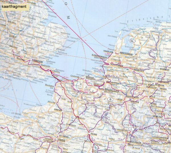 Europa Pilgerwege | overzichtskaart 1:3.500.000 9783707916584  Freytag & Berndt   Lopen naar Rome, Santiago de Compostela, Wandelkaarten Europa