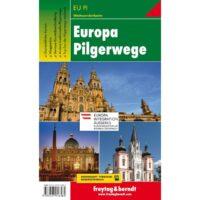 Europa Pilgerwege   overzichtskaart 1:3.500.000 9783707916584  Freytag & Berndt   Lopen naar Rome, Santiago de Compostela, Wandelkaarten Europa