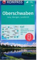 wandelkaart KP-187 Oberschwaben, Isny/Wangen   Kompass 9783990448816  Kompass Wandelkaarten Kompass Oberbayern  Wandelkaarten Beierse Alpen