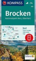 KP-455 Rund um den Brocken - Nationalpark Harz | Kompass wandelkaart 9783990449219  Kompass Wandelkaarten Kompass Duitsland  Wandelkaarten Harz