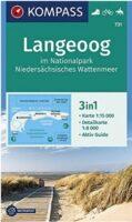 KP-731 Langeoog | Kompass wandelkaart 9783990449240  Kompass Wandelkaarten Kompass Duitsland  Wandelkaarten Ostfriesland