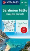 KP-2498 Sardinië, midden 1:50.000 (set van 4 kaarten) | Kompass wandelkaart 9783990449318  Kompass Wandelkaarten Kompass Italië  Fietskaarten, Wandelkaarten Sardinië