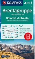 KP-73  Dolomiti di Brenta 1:50.000   Kompass wandelkaart 9783990449325  Kompass Wandelkaarten Kompass Italië  Wandelkaarten Zuid-Tirol, Dolomieten