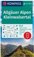 KP-3  Allgäuer Alpen, Kleinwalsertal | Kompass wandelkaart 9783991210283  Kompass Wandelkaarten Kompass Duitsland  Wandelkaarten Beierse Alpen, Vorarlberg