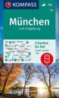 KP-184  München u. Umg. | Kompass wandelkaart 9783991210290  Kompass Wandelkaarten Kompass Duitsland  Wandelkaarten München en omgeving