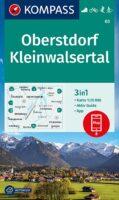 wandelkaart KP-03  Oberstdorf-Kleinwalsertal | Kompass 9783991210320  Kompass Wandelkaarten Kompass Oberbayern  Wandelkaarten Beierse Alpen
