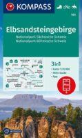 KP-761  Elbsandsteingebirge 1:25.000 | Kompass wandelkaart 9783991210719  Kompass Wandelkaarten Kompass Sachsen  Wandelkaarten Sächsische Schweiz, Elbsandsteingebirge, Erzgebirge