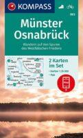 KP-863 Münster, Osnabrück | Kompass wandelkaart 1:35.000 9783991210771  Kompass Wandelkaarten Kompass Nordrhein-Westfalen  Wandelkaarten Münsterland
