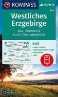 KP-806  Westliches Erzgebirge | Kompass wandelkaart 1:50.000 9783991210795  Kompass Wandelkaarten Kompass Sachsen  Wandelkaarten Sächsische Schweiz, Elbsandsteingebirge, Erzgebirge