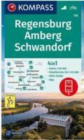 KP-176  Regensburg und Umgebung | Kompass geplastificeerde wandelkaart 9783991210801  Kompass Wandelkaarten Kompass Duitsland  Wandelkaarten Beierse Woud, Regensburg, Passau
