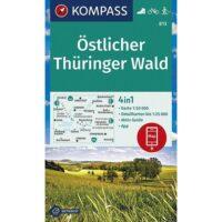 KP-813 Östlicher Thüringer Wald | Kompass wandelkaart 1:50.000 9783991210825  Kompass Wandelkaarten Kompass Thüringen  Wandelkaarten Thüringen, Weimar, Rennsteig