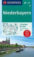 KP-160 Niederbayern | wandelkaart 1:50.000 9783991210832  Kompass Wandelkaarten Kompass Duitsland  Wandelkaarten Beierse Woud, Regensburg, Passau