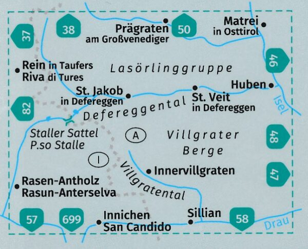 KP-45 Defereggental-Lasörlinggruppe   Kompass wandelkaart 9783991210870  Kompass Wandelkaarten Kompass Oostenrijk  Wandelkaarten Salzburg, Karinthië, Tauern, Stiermarken