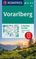 KP-292  Vorarlberg | Kompass wandelkaart 1:50.000 9783991210894  Kompass Wandelkaarten Kompass Oostenrijk  Wandelkaarten Tirol & Vorarlberg