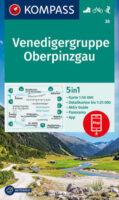 KP-38 Venedigergruppe-Oberpinzgau | Kompass wandelkaart 9783991210900  Kompass Wandelkaarten Kompass Oostenrijk  Wandelkaarten Salzburg, Karinthië, Tauern, Stiermarken