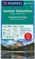 KP-58 Sextener Dolomiten 1:50.000 | Kompass wandelkaart 9783991211181  Kompass Wandelkaarten Kompass Italië  Wandelkaarten Zuid-Tirol, Dolomieten