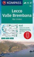 KP-105  Lecco/Valle Brembana | Kompass wandelkaart 9783991211273  Kompass Wandelkaarten Kompass Italië  Wandelkaarten Milaan, Lombardije, Italiaanse Meren