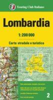 TCI-02  Lombardia 1:200.000 9788836577965  TCI Italië Wegenkaarten  Landkaarten en wegenkaarten Turijn, Piemonte