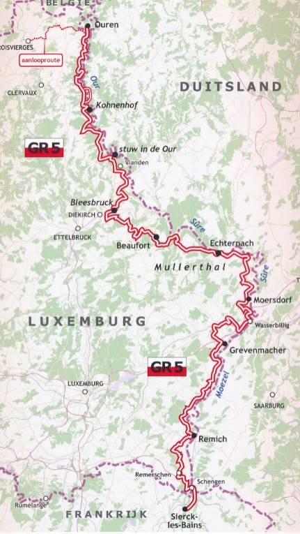 GR-5/E2 traject 2: Luxemburg  wandelgids GR5 9789083086910  De Wandelende Cartograaf   Lopen naar Rome, Meerdaagse wandelroutes, Wandelgidsen Luxemburg