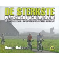 DSF-10 De sterkste fietskaart van Noord-Holland 1:50.000 9789463690447  Buijten & Schipperheijn DSF  Fietskaarten Noord-Holland