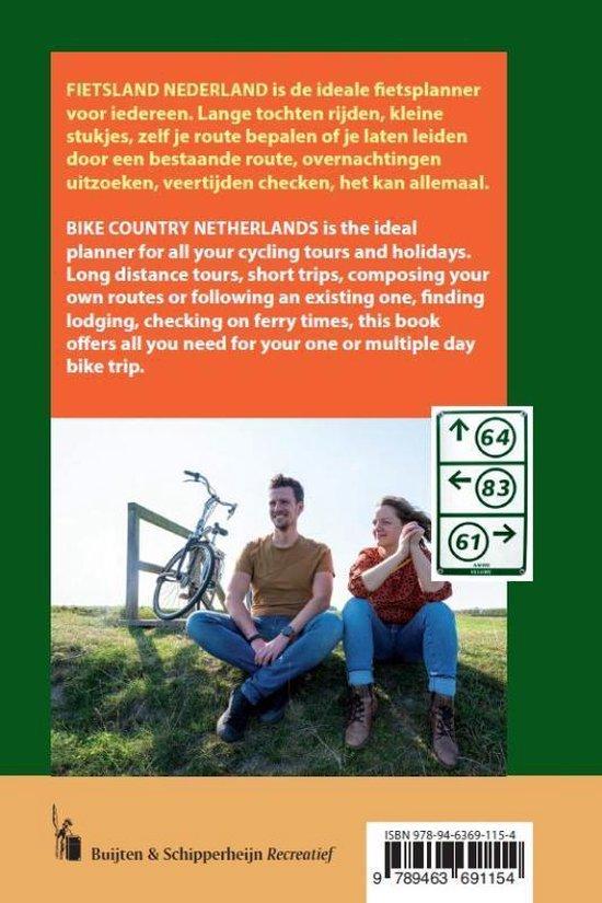 Fietsland Nederland | fietsatlas 1:75.000 9789463691154  Buijten & Schipperheijn   Fietskaarten Nederland
