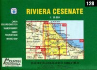 128 Riviera Cesenate CAI01  Istituto Geografico Adriatico Carte esc. 1:50.000  Wandelkaarten Bologna, Emilia-Romagna, De Marken