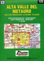 122 Alta Valle del Metauro CAI29  Istituto Geografico Adriatico Carte esc. 1:50.000  Wandelkaarten De Marken