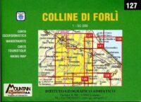 127 Le Colline di Forlì CAI38  Istituto Geografico Adriatico Carte esc. 1:50.000  Wandelkaarten Bologna, Emilia-Romagna