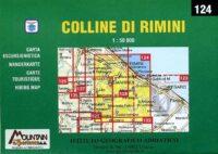 124 Colline di Rimini CAI83  Istituto Geografico Adriatico Carte esc. 1:50.000  Wandelkaarten De Marken