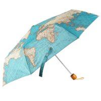 Paraplu met vintage wereldkaart 5055992720851  Sass & Belle   Overige artikelen Reisinformatie algemeen